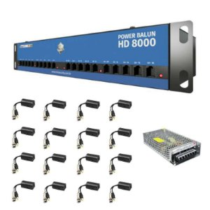 Power Balun Onix - Organizador Para DVR 16 Canais - Compatível c/ Todos DVRs HDCVI / TVI / AHD