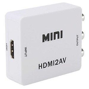 CONVERSOR CABO HDMI PARA CABO AV (RCA)