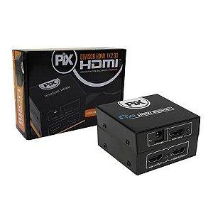Divisor HDMI 1 Entrada 2 Saidas Compativel P/ TV 3d