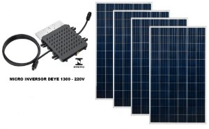 KIT USINA SOLAR COM 4 PAINÉIS 320W  - TELHA METÁLICA