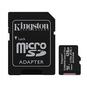Cartão de memória microSD de 128GB - 100MB/s - Classe 10 com adaptador SD