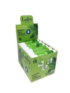 LABY PROTETOR SOLAR LABIAL FPS15 MENTA STICK 4,5g DISPLAY c/24