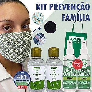 Kit Prevenção Família com máscaras estampadas
