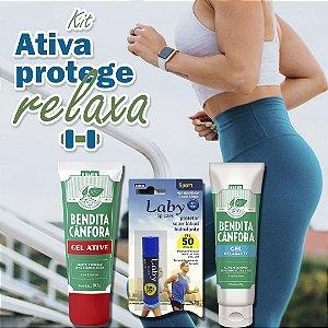 Kit Ativa, protege e relaxa