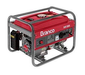 Gerador 3,5KVA B4T 3500 110/220V MONO 15L Gasolina - Branco