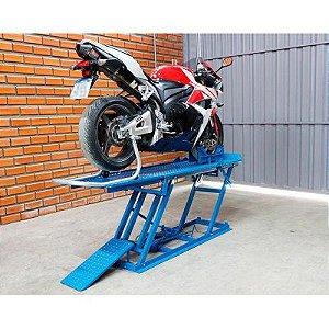 Elevador de moto hidráulico EH-400 azul 400KG - Bovenau