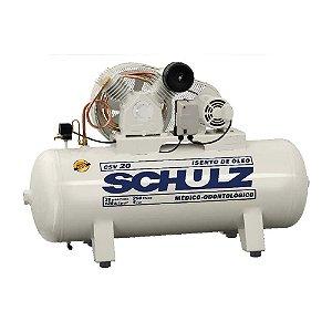 Compressor de AR CSV 20/250 5HP 220V Isento de óleo - SCHULZ
