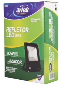 Refletor LED 10W 100/240V 6500K - Artek