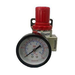 """Regulador de Pressão 1/2"""" Com Manômetro RPMI 2400 - Bel Air"""