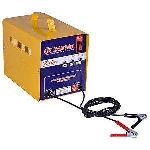 Carregador de Bateria 12V 10 Amp Ck24A10A Bivolt - Kitec