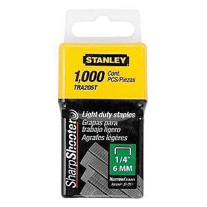 Grampo p/ Grampeador Manual 6mm Caixa com 1000 peças - TRA204T - Stanley