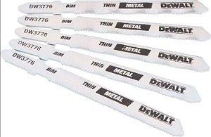 Lâmina p/ Serra Tico-Tico 3 Pol. 24dpp Corte Fino Metal - DW3776-5 - Dewalt
