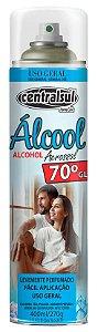 Álcool em Spray Aerossol 70% para Limpeza Geral 400ml - 016679-0 - Centralsul