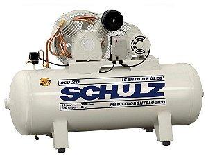 Compressor de Ar CSV 20/250 220V 5HP Isento de Óleo - 922.7778-0 - Schulz
