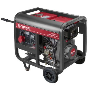 Gerador de Energia à Diesel BD 6500 5,0KVA 10CV Trifásico com Partida Elétrica - 90313703 - Branco