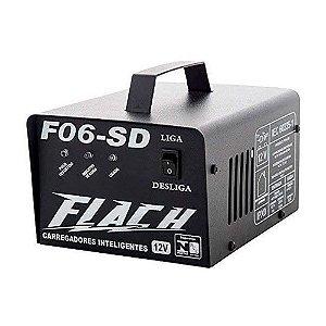 Carregador de Bateria Inteligente F06-SD 127/220V 60A 12V - F06-SD - Flach