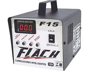 Carregador de Bateria Inteligente F15 127/220V 60A 12V - F15 - Flach