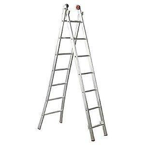 Escada Esticável Dupla 7 Degraus - ED107 - Alulev