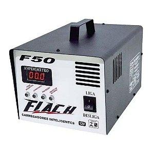 Carregador de Bateria Inteligente F50 127V/220V 250A 12V - F50 - Flach