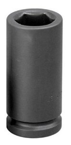 "Soquete de Impacto Longo 1"" 30mm (Preto) - 060772 - Robust"