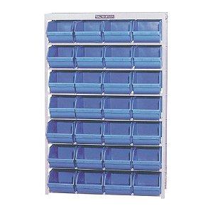Estante EP C/ 28 Caixas NR 7 Azul - EP28/7P - Marcon