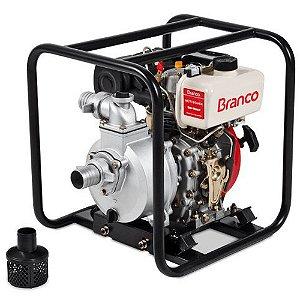 """Motobomba BD-710 CF 2"""" 5,0CV Diesel - 90304200 - Branco"""