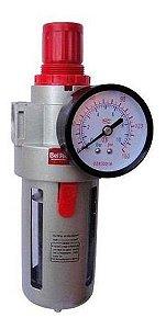 """Filtro Regulador de Pressão 1/2"""" c/ Manômetro - FRMI2400 - Bel Air"""