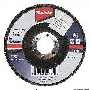"Disco Lixa Flap 4.1/2x7/8"" GR120 - D-63460-10 - Makita"