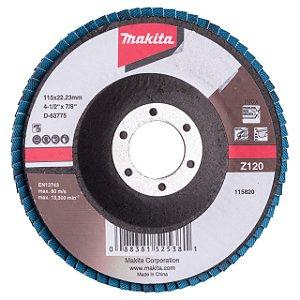 "Disco Lixa Flap 4.1/2x7/8"" GR120 - D-63775-10 - Makita"