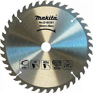 Lâmina P/ Serra Circular 185x20mm 40D (Madeira) - D-03361 - Makita