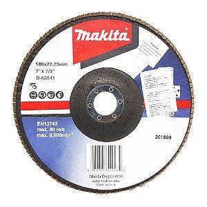 "Disco Flap 7x7/8"" GR120 (Alumínio) - D-63541-10 - Makita"