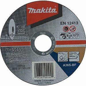 Disco de Corte Abrasivo Fino 4 1/2x1/16x7/8 GR30 - B-45755-25 - Makita