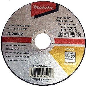 Disco de Corte Abrasivo Fino 4 1/2x3/64x7/8 GR 60 - D-20002-10 - Makita