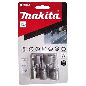 Soquete Magnético 6-13mmx50mm (5 Peças) - B-39154 - Makita