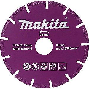 Disco Diamantado Multimateriais 4.1/2 115mm (Concreto) - D-58883 - Makita
