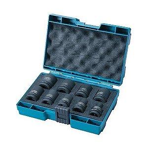 Soquete de Impacto Curto 1/2 8-24mm c/ Maleta (9 Peças) - D-42575 - Makita
