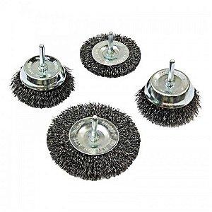Conjunto de Escovas de Aço Copo/Roda Ondulado 10-63mm (4 Peças) - D-65729 - Makita