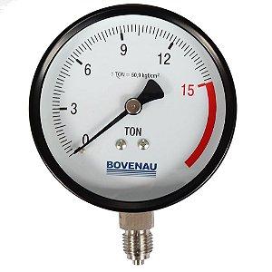 "Manômetro 1/4"" 15 TON Vertical s/ Glicerina - P1670 - Bovenau"