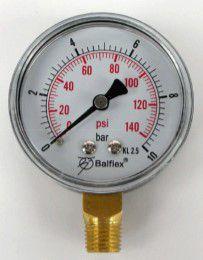 "Manômetro 1/4"" 58LBS S/ Glicerina - 55.2321.004 - Balflex"