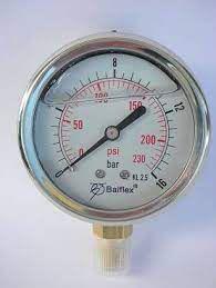 "Manômetro 1/4"" 860LBS Vertical c/ Glicerina - 55.1111.060 - Balflex"