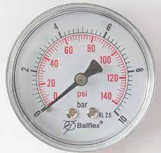 "Manômetro 1/8"" 160LBS Horizontal s/ Glicerina - 55.2220.011 - Balflex"