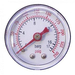 "Manômetro 1/8"" 250LBS Horizontal - 011.0117-0/AT - Schulz"