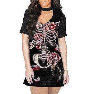 Vestido Choker Esqueleto