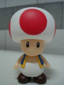 Boneco Toad - Super Mario Bros Figure Collection