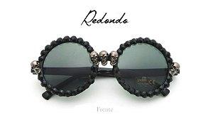Oculos de Sol Caveira Skull Summer Redondo
