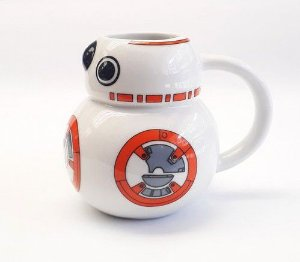 Caneca BB8 Star Wars 3d Porcelana 450ml
