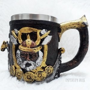 Caneca Vikings Inox e Resina 400ml