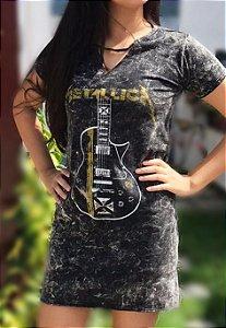 Vestido Estonado Metallica Guitarra