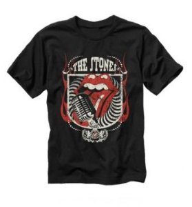 Camisa Rolling Stones Microfone