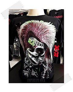 Camisa Caveira Punk - Tamanho G